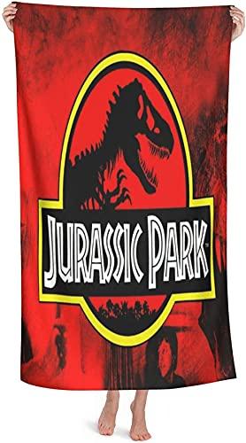 Jurassic Park - Toalla de playa, diseño de dinosaurio (secado rápido, 1,90 cm x 180 cm)