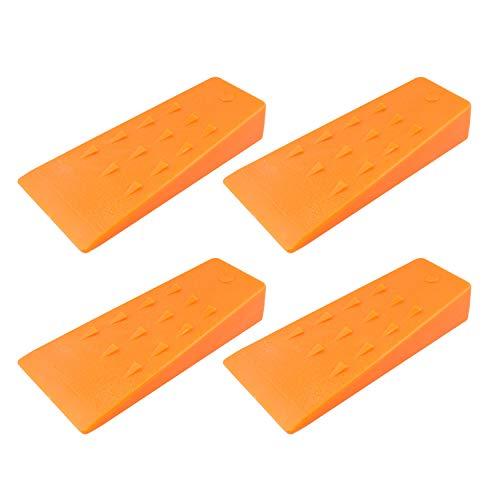 Felled Spiked Tree Felling Wedges for Tree Cutting – 5.5in Orange Plastic Felling Wedge, Logging Tools – 4 Pack