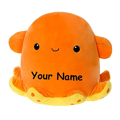 Fiesta Toys Personalized Snugglies Dumbo Octopus Plush Stuffed Animal Toy with Custom Name