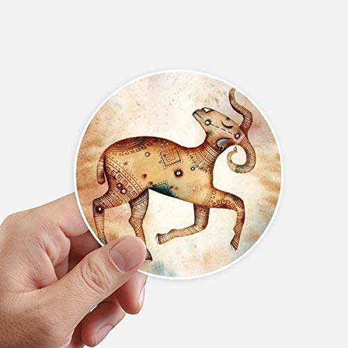 DIYthinker maart april Ram sterrenbeeld Zodiac ronde Stickers 10 Cm muur koffer Laptop Motobike Decal 8 Stks