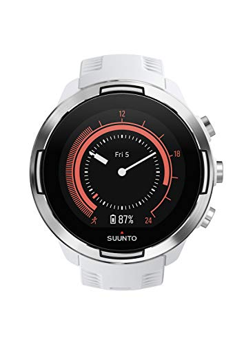 Suunto 9 Baro GPS Multisport Watch, Unisex, White, 24.5 cm