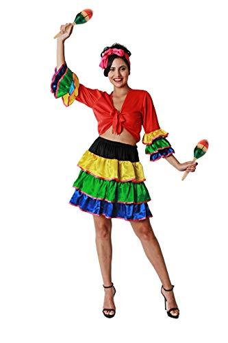 Costumizate! Disfraz de Brasileños Adultos Especial para Fiestas de Disfraces y Carnaval Talla Unica