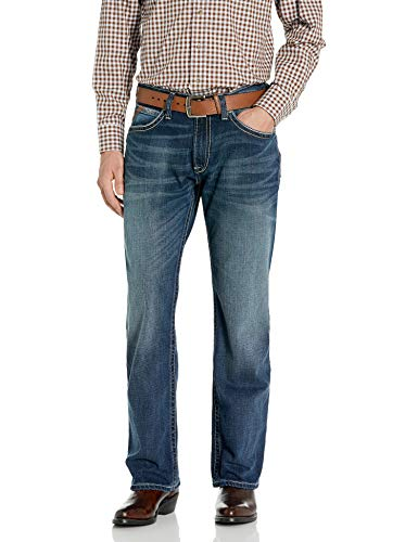 Ariat Low Rise Boot Cut Jeans – Men's Relaxed Fit Denim, Turnout, 42W x 34L