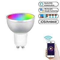 GU10 5W RGB調光WIFIスマートLED電球省エネライト(カラフルライト) HDJ (Color : Colorful Light)