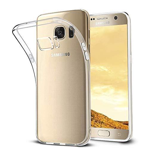 wsiiroon Hülle Kompatibel mit Samsung Galaxy S7, Ultra-dünn Transparent Handyhülle, Anti-Gelb Case, Kratzfest Durchsichtige Schutzhülle, Hohe Qualität Weich TPU Stoßfest Klar Silikonhülle