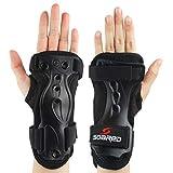 Andux Ski Gloves Extended Wrist Palms Protection Roller Skating Hard Gauntlets Adjustable Skateboard Gauntlets Support HXHW-01 (M)