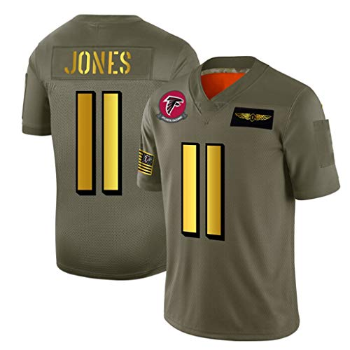 Atmungsaktives und bequemes American Football-Trikot, Atlanta Falcons # 11 Julio Jones Mesh-Trikot-S