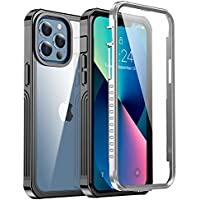 ANTSHARE Glass+ Shockproof Full Body Heavy Duty Protective Rugged Case with Built-in 9H Glass Screen Protector for 6.1