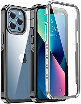 Protective Case with Built-in Glass Screen Protector for iPhone 13 Pro