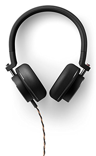 Onkyo H500MB Hi-Res - Auriculares On-Ear de Diadema con Micrófono (Controladores de 44 mm, Cable Trenzado Desmontable), Color Negro