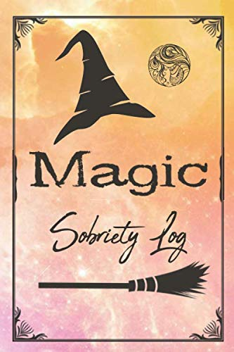 SOBRIETY LOG: Magic - Shiny Pink / Yellow Cover| Sober Me Journey Notebook Journal to Record Taken Steps, What Make You Grateful, Future Plans To Help and More