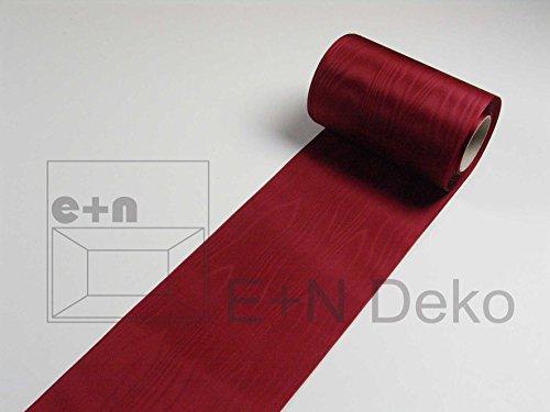 Moiréband bordeaux 150 mm-longueur: 25 m