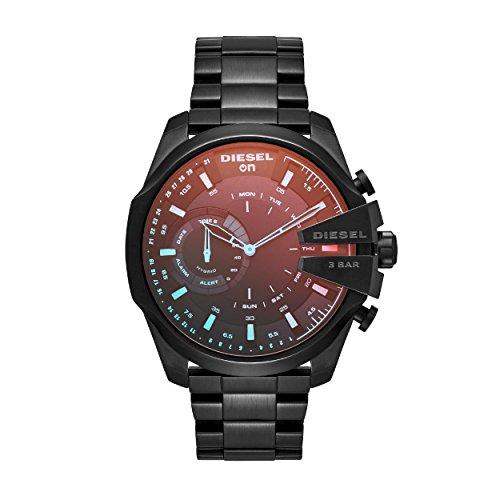 Diesel Herren Analog Quarz Uhr mit Edelstahl Armband DZT1011