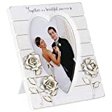 Enesco Foundations Wedding Photo Picture Frame, 7 Inch, White
