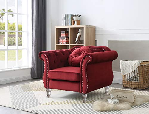 Glory Furniture Hollywood Chair Chaises Longues, Burgundy