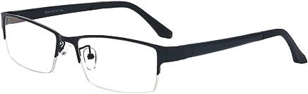 ALWAYSUV Unisex Black Fashion Lightweight half Frame Nearsighted Myopia Shortsighted Glasses -2.0