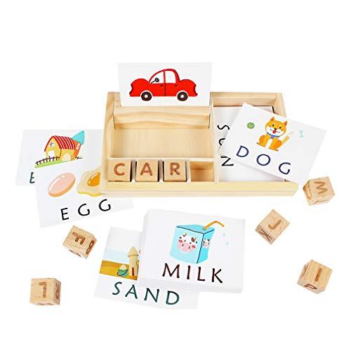 Matching Letter Game, Letter Spelling and Learning Game for Preschool Kindergarten Letters Matching Card Games, Word Spelling Games for Kids