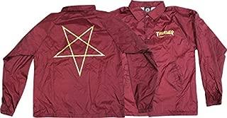 Thrasher Magazine Pentagram Burgandy Coaches Jacket - X-Large