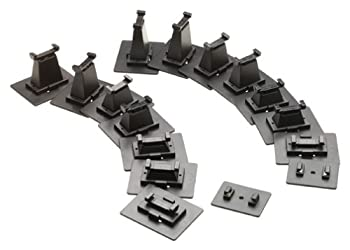 Bachmann Trains - Snap-Fit E-Z TRACK 16 PC E-Z TRACK GRADUATED PIER SET - NICKEL SILVER Rail With Grey Roadbed - N Scale