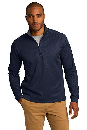 Port Authority® Vertical Texture 1/4-Zip Pullover. K805 True Navy/ Iron Grey M