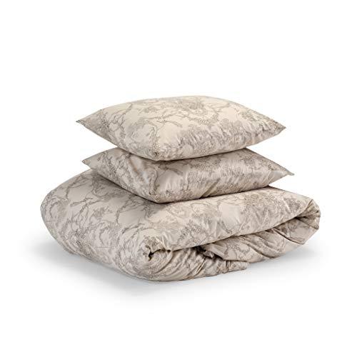 100/% cotton SavasTextile Toile de jouy Duvet Cover set with pillowcases