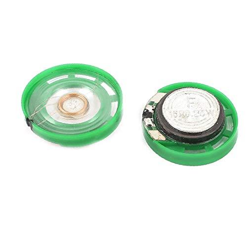 X-DREE 2 Stücke 0,25 Watt 16Ohm 23mm Runde Kunststoffschale Magnet Elektronische Lautsprecher Lautsprecher (93b205bd35fdc174b4e5243b9ae12c10)