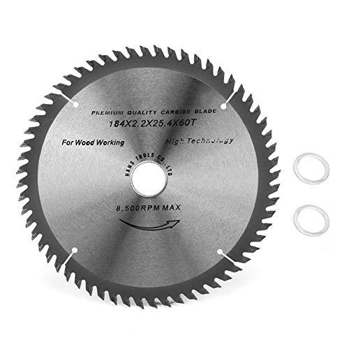 Belissy Tratamiento de la madera hoja de sierra 60T carburo cementado for la Sierra de mesa amoladora angular 184x25.4x2.2mm