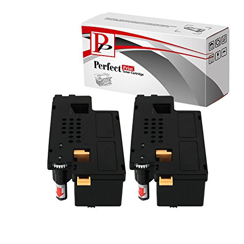 2 Compatible Black Toner Cartridges for Dell Printer 1250c 1350cnw 1355cn 1355cnw C1760 C1760nw C1765 C1765nfw
