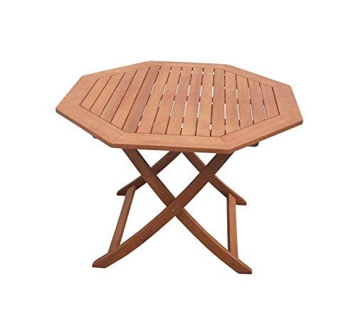 MERXX Garten-Klapptisch aus Holz, Durchmesser 110 cm