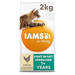 Iams for Vitality Cat Food Light In Fat with Fresh Chicken for Overweight Cats