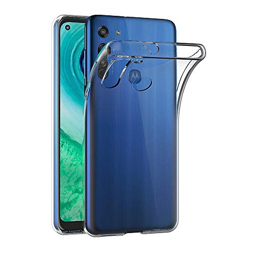 Preisvergleich Produktbild AICEK Hülle Compatible für Moto G8 Transparent Silikon Schutzhülle für Motorola Moto G8 Case Clear Durchsichtige TPU Bumper Moto G8 Handyhülle (6, 4 Zoll)