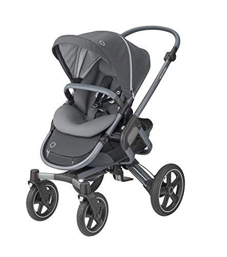 Maxi-Cosi Nova combi-kinderwagen, bruikbaar vanaf de geboorte tot ca. 3,5 jaar, comfortabele outdoor-/kinderwagen. 4 wielen. grijs