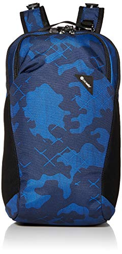 Save %37 Now! PacSafe Vibe 20 Liter Anti Theft Travel Daypack-Fits 13 inch Laptop, Blue Camo