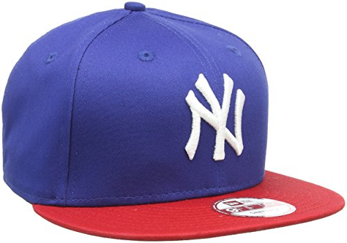 New Era MLB 9Fifty York Yankees, Snapback cap Uomo, Scarlet Red Black White, ML (58.7 cm - 61.5 cm)