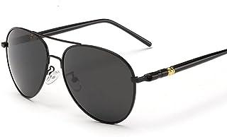 QWKLNRA - Gafas De Sol para Hombre Montura Negra Lente Negra Gafas De Sol Polarizadas Gafas De Sol para Conducir para Hombres Gafas De Sol Masculinas para Hombres Mujeres De Lujo Retro Uv400 Ciclismo