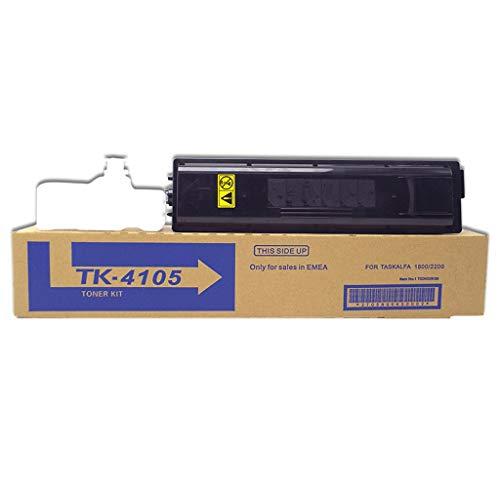 Negro de tóner de Impresora Adecuada para Kyocera TK-4105 Cartucho de tóner Taskalfa 1800 1801 2200 2201 Toner Cartucho de Tinta, 10000 Páginas,2black