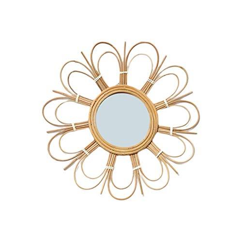 Maquillaje, lavado, afeitado, espejo montado en la pared Maquillaje literaria retro rota Art Deco espejo redondo de la pared del sitio For Living Cocina Bao Decoracin Disfrazarse Espejo