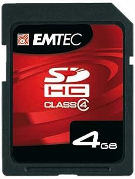 EMTEC Class 4 SDHC Flash Memory Card 4 GB