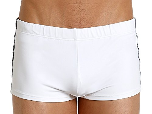 Emporio Armani Herren Badehose Ea7 Side Piping - Weiß - X-Small/EU 46