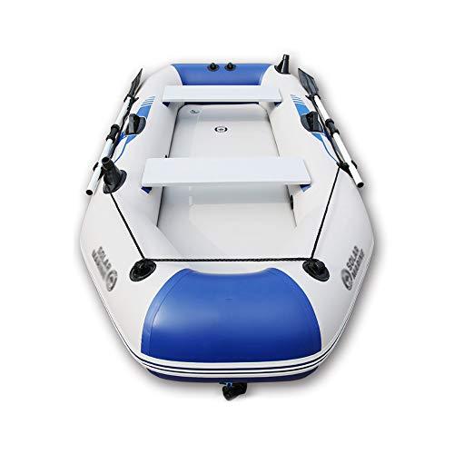 LK-HOME Canotto Gonfiabile per 2 Persone, Gommone Gommone con Zattera in Alluminio con Remi E Pompa, Barca da Pesca Explorer,175 * 103cm,B
