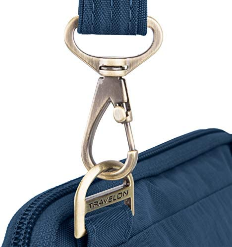 Travelon Anti-Theft Signature Quilted Slim Pouch, Ocean, One Size