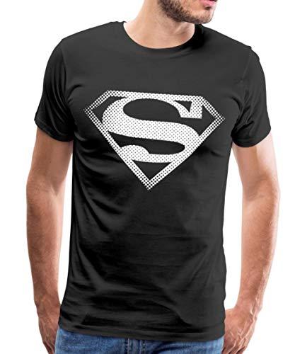 DC Comics Originals Superman Logo T-Shirt Premium Homme, XL, Noir
