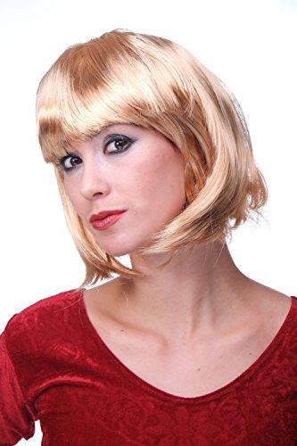 WIG ME UP - Perruque Blond doré, carré Plongeant Sexy, Style Disco, Go-Go Girl, idéal pour soirée PW0114-P70
