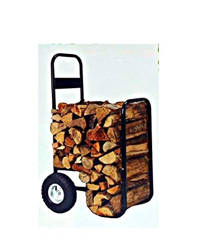 Find Discount Firewood Hand Truck Caddy - With Cover - 200lb Cap -No Flat Wheels