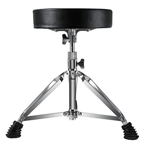 XDrum Session DHS-1 Schlagzeughocker (doppelstrebig, Höhenverstellbar 47-60cm, Durchmesser Sitzfläche 32cm, Dreibeinig mit Gummifüßen, zusammenklappbar, stabil)
