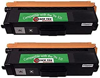 Laser Tek Services® 2 Pack TN331K Black Compatible Toner Cartridges for the Brother: HL-L8250CDN, HL-L8350CDW, HL-L8350CDWT, MFC-L8600CDW, MFC-L8850CDW,HL-L8350, MFC-L8600