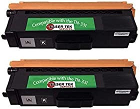 Laser Tek Services® 2 Pack TN331K Black Compatible Toner Cartridges for the Brother: HL-L8250CDN, HL-L8350CDW, HL-L8350CDWT, MFC-L8600CDW, MFC-L8850CDW,HL-L8350, MFC-L8600