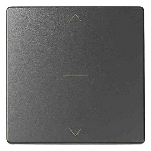 Tecla interruptor persiana 3 posiciones, serie 82 Concept, 1 x 5,5 x 5,5 centímetros, color titanio (referencia: 8200028-096)