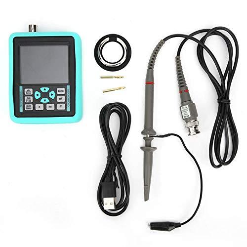 DS01511E + Mini osciloscopio digital portátil de mano de 2.4 pulgadas, ancho de banda 120MS/S, frecuencia de muestreo 500MHZ, admite forma de onda de referencia de bloqueo de una tecla, para calibraci