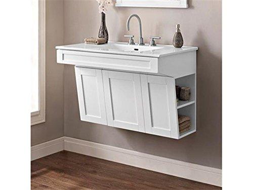 Fairmont Designs 1512-WV3621 Shaker Americana - 36 Wall Mount Vanity - Polar White